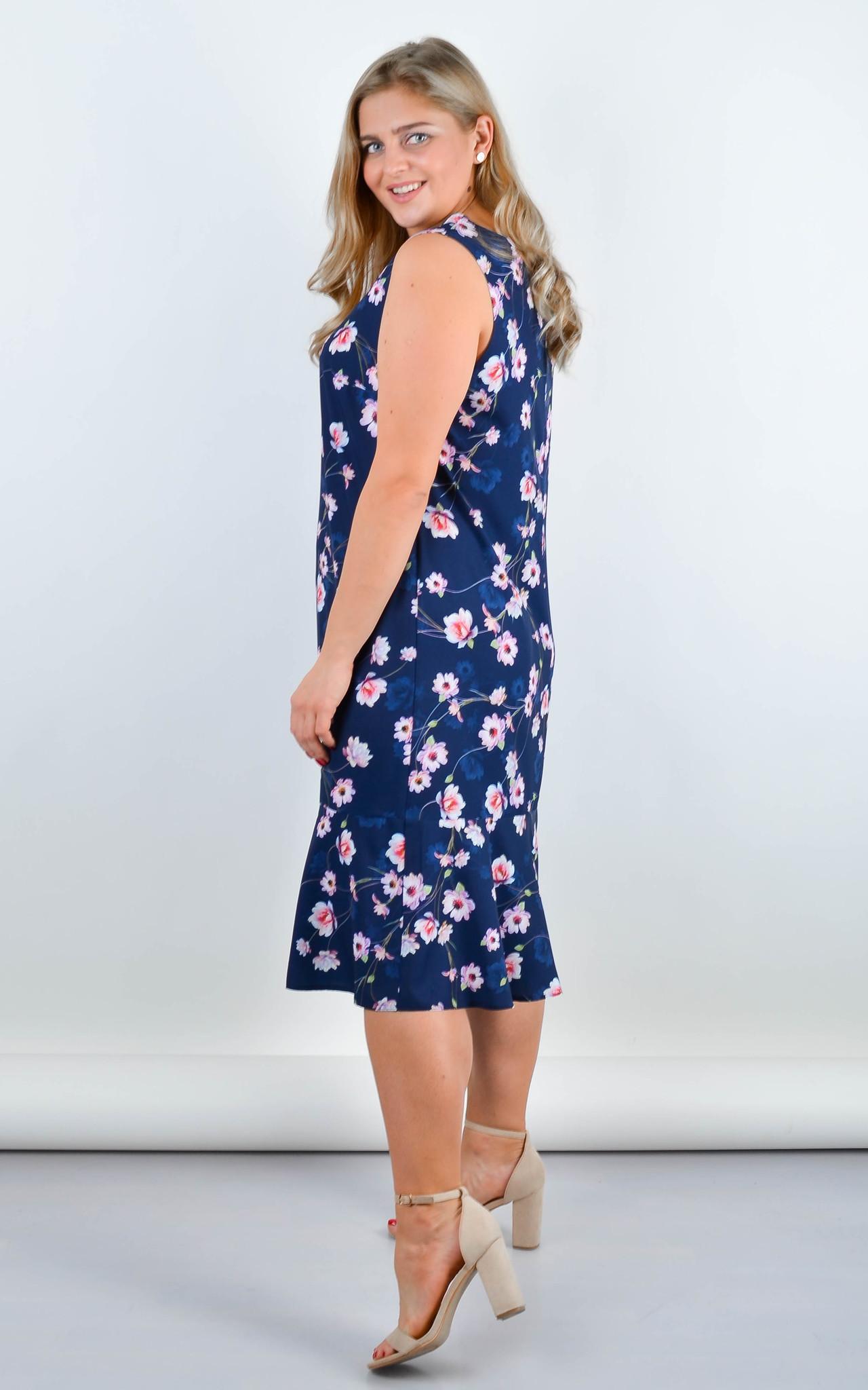 Нежное платье Ванила (синий)