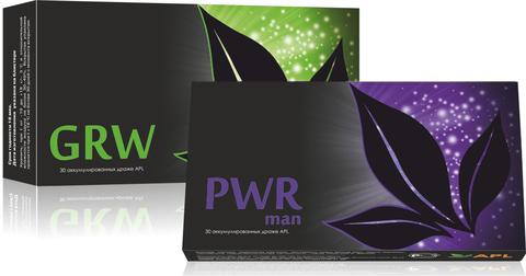 APL. Набор Аккумулированные драже APLGO GRW+PWR man для комплексной заботы о мужском здоровье