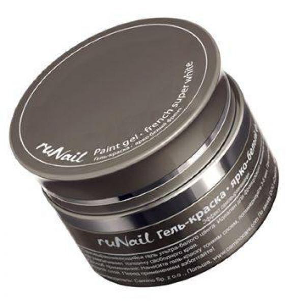 Runail гель-краска Гель-краска RuNail Ярко белый френч 8г gel-kraska-runail-yarko-belyj-french-8g.jpg