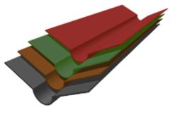 Ондулин Ендова 1000мм зеленый