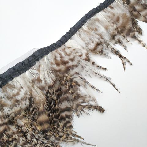 Тесьма  из перьев петуха h- 8-10см., шиншила