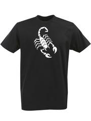 Футболка с однотонным принтом Знаки Зодиака (Скорпион) черная 003