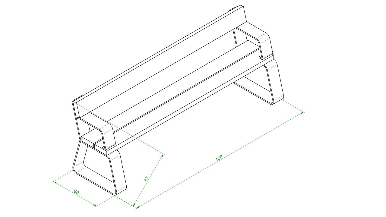 Скамейка SCAM0140