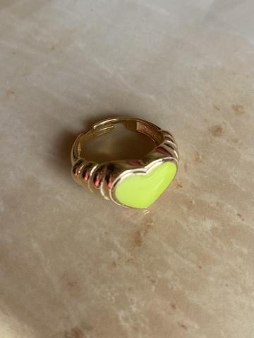 Кольцо Лавли желтый, позолота
