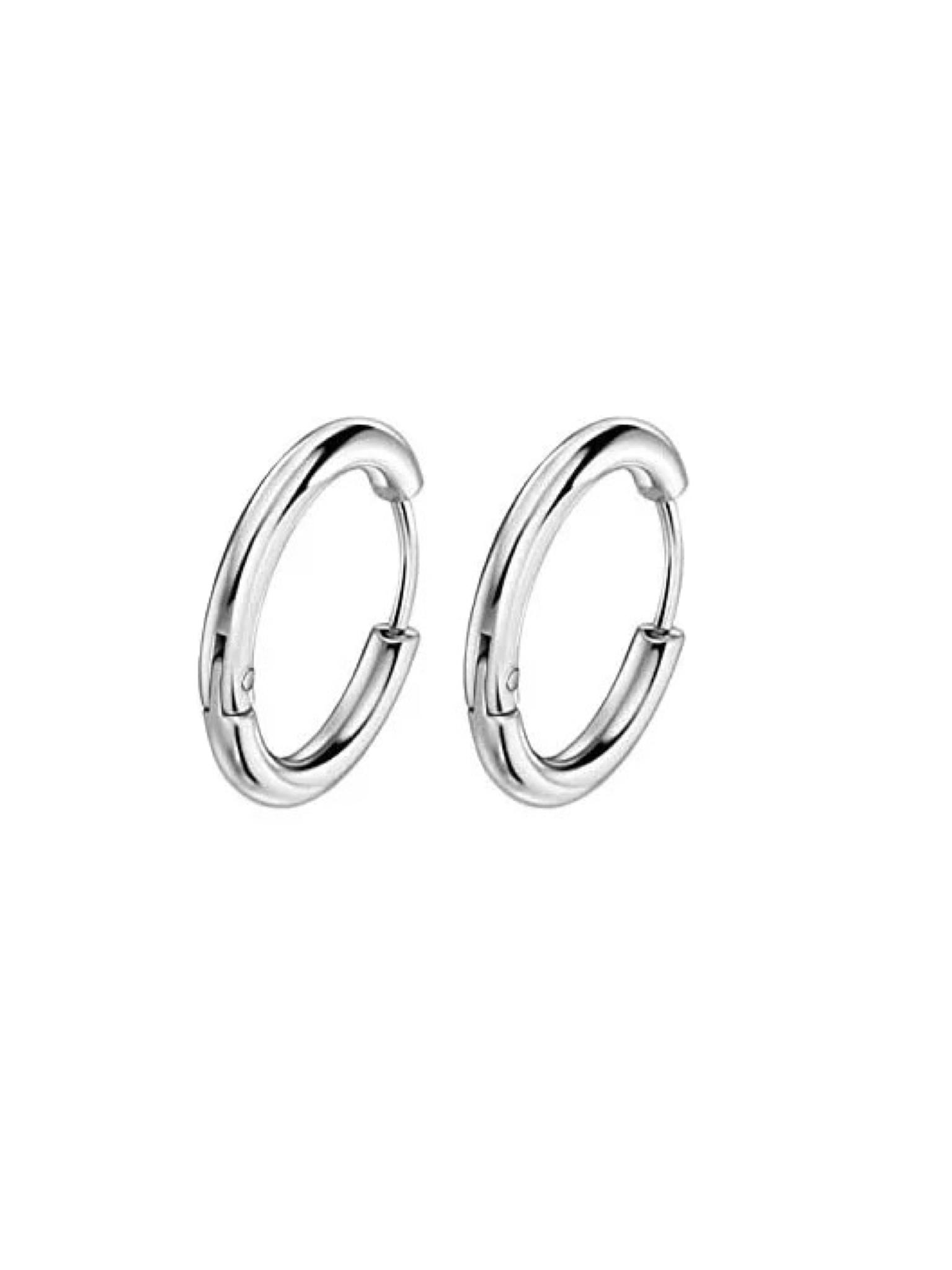Серьги-кольца тонкие 14 мм
