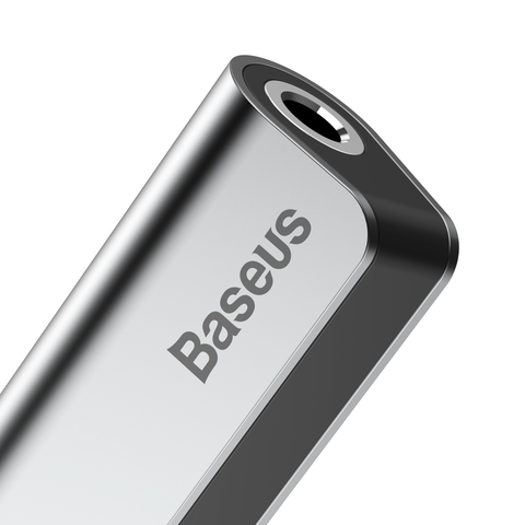 Переходник Baseus Type-C Male To Type-C Female +3.5MM Female Adapter L40 Silver+Black
