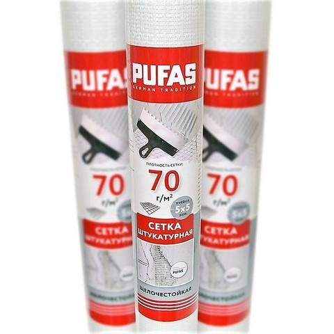 Сетка стеклотканевая штукатурная Pufas (5х5 мм) 30м