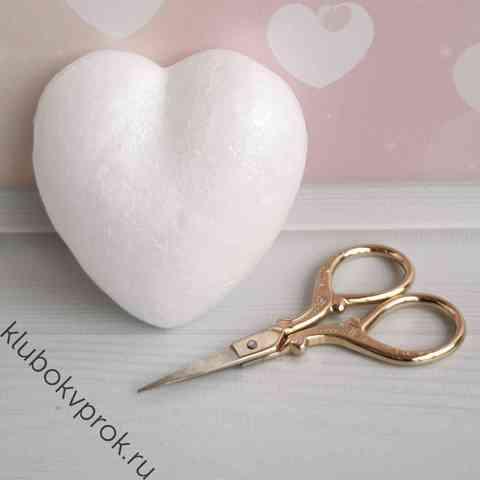 Сердце объемное из пенопласта, 85 мм