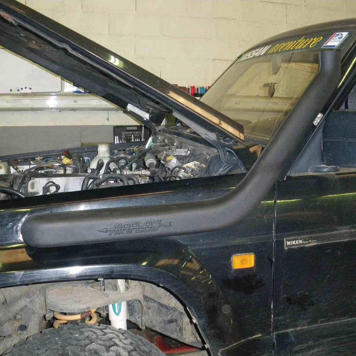 Установка шноркеля на Nissan Patrol Y60
