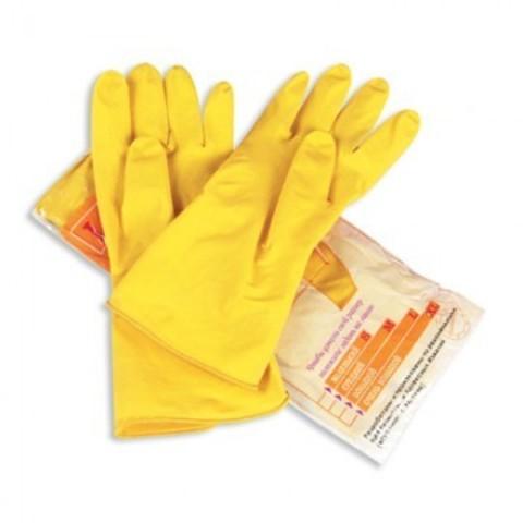 Перчатки латексные Paclan Professional желтые (размер 8, M)