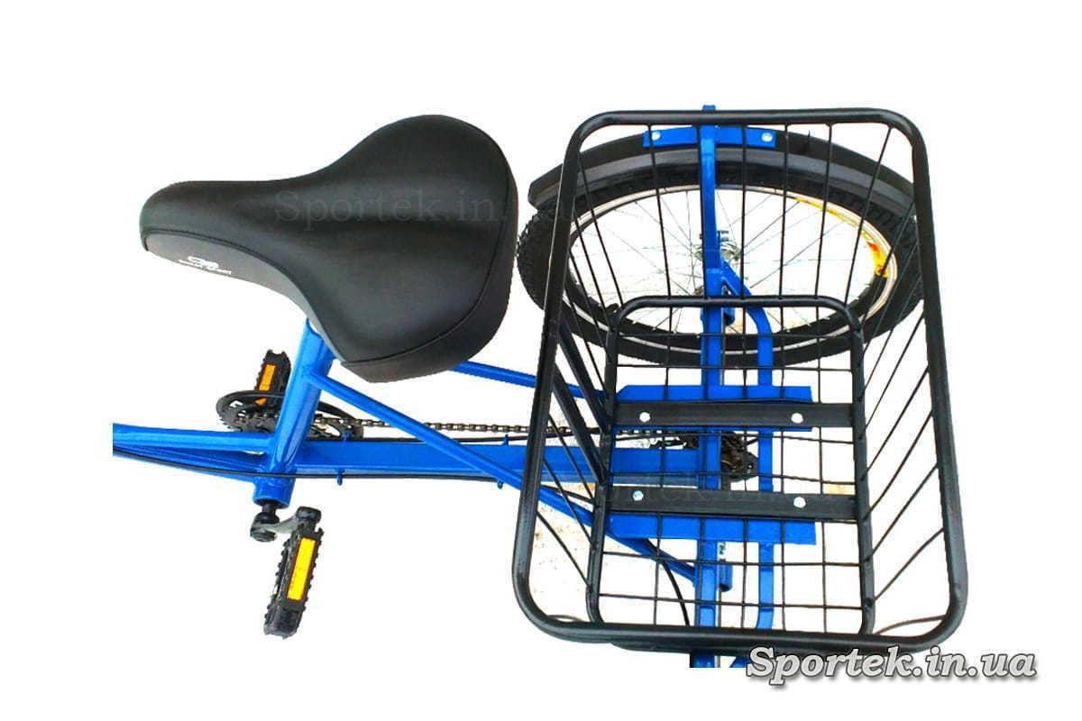 Сідло і корзинка триколісного велосипед 'Міський з кошиком'