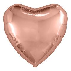 Аг 30''/76см, Сердце, Розовое Золото.