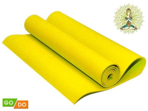 Коврик гимнастический. КВ6104  (Жёлтый)