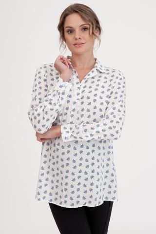 Блузка для беременных 10867 молочный