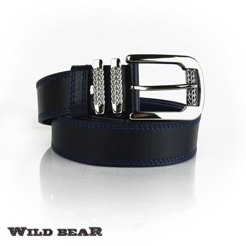 Ремень WILD BEAR RM-024f Dark-blue Premium