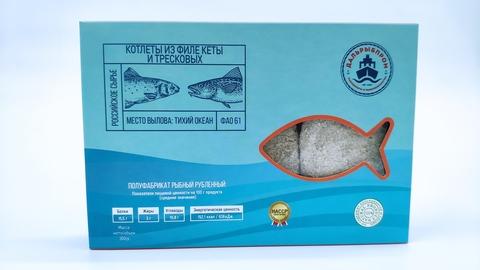Сахалин  Котлеты   из тресковых  с кальмаром  300 гр(1/10)