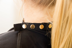 Пеньюар Balmain Hair Luxury Black Cutting Cape золотые пуговицы
