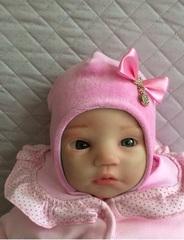 Шапочка из велюра Маленькое Чудо (розовый)