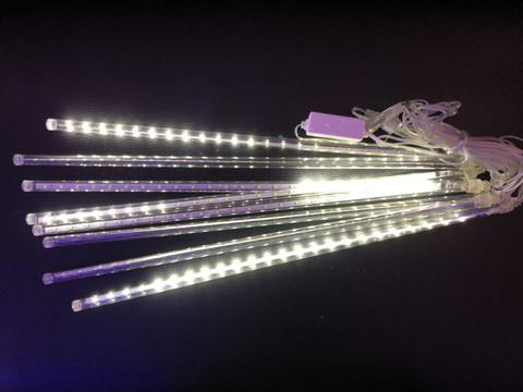 Паличка Сосулька гірлянда 3.5 м. на 30 см. біла