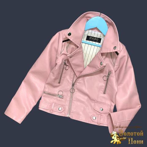 Куртка эко-кожа девочке (5-13) 210524-К74019