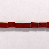 Бусина из яшмы красной, фигурная, 4x6 мм (цилиндр, гладкая)