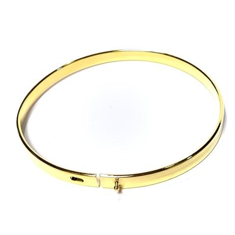 Основа жесткая для браслета покрытие 24К цвет золото