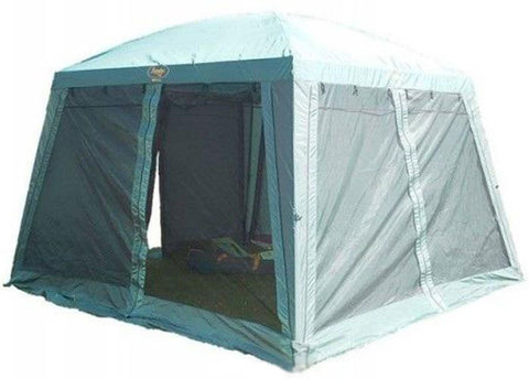 Туристический тент-шатер Campack Camper Safary (со стенками) (зеленый)