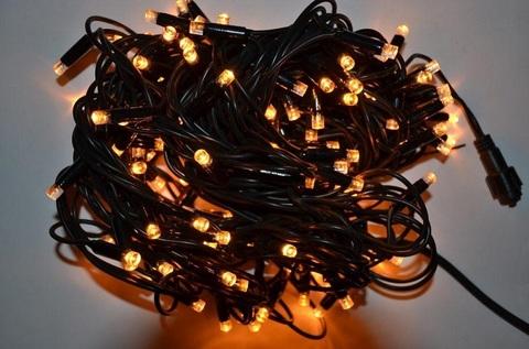 нирлянда черный провод желтый цвет 14м