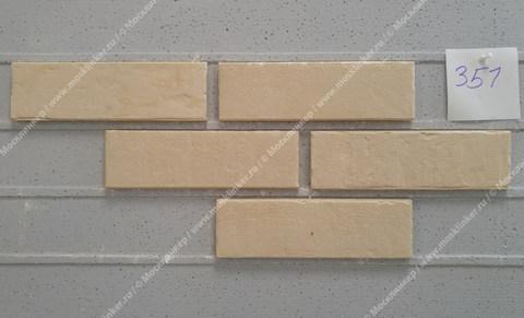 Stroeher - 351 kalkbrand, Zeitlos, состаренная поверхность, ручная формовка, 400x35x14 - Клинкерная плитка для фасада и внутренней отделки