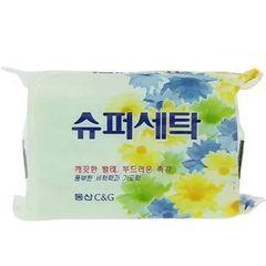 Мыло хозяйственное Clio Super Laundry Soap с освежающим ароматом 230 гр