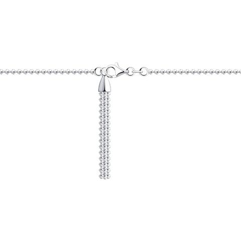 94054619 - Браслет из серебра с подвеской кисточка