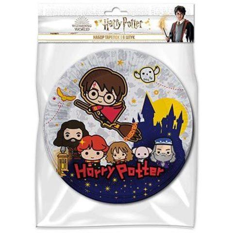 Набор тарелок Гарри Поттер Чиби, 6 штук