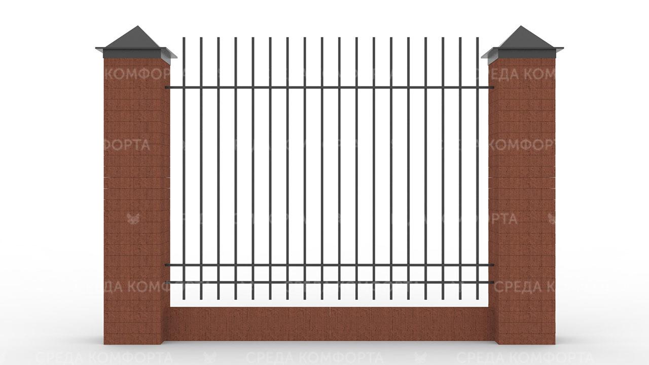Забор из профильной трубы ZBR0145