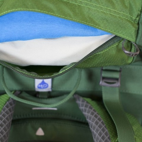 Картинка рюкзак туристический Osprey Kestrel 58 Jungle Green - 3