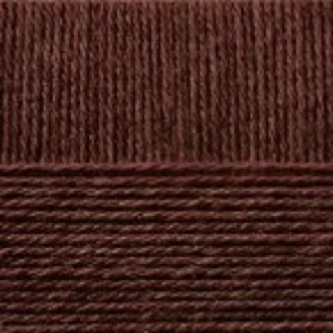 Купить Пряжа Пехорка Кроссбред Бразилии Код цвета 017-Шоколад | Интернет-магазин пряжи «Пряха»