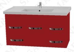 Тумба подвесная SanMaria Лимбург-100, 4 ящика, красная