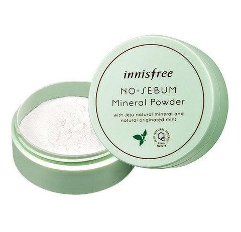 Innisfree No Sebum Mineral Powder минеральная матирующая пудра для жирной кожи