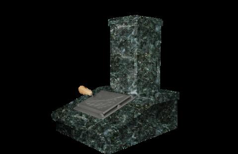 Облицовка на трубу - Серпентинит, высота 540 мм