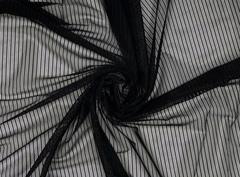 Эластичная сетка, ОПТ, черная, полоски, (Арт: ESPK-170)