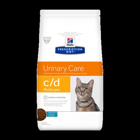 Hill's Prescription Diet c/d Multicare Urinary Care Сухой диетический корм для кошек при лечении и профилактике цистита и мочекаменной болезни с рыбой