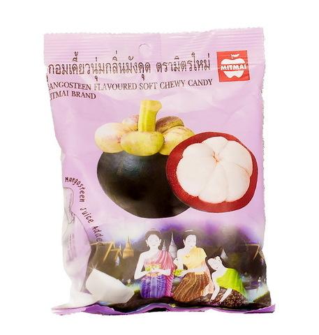 Жевательные тайские конфеты MITMAI со вкусом мангостина  (MitMai Mangostin soft)