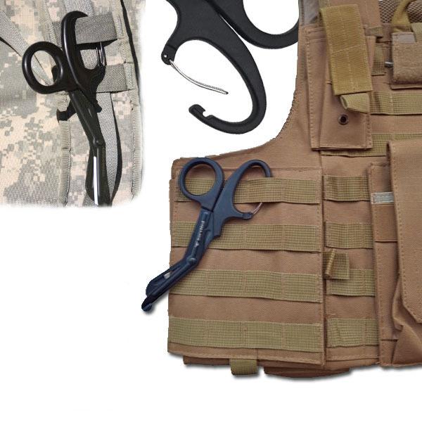 Медицинские ножницы (тактические изогнутые тупоконечные) SurvMed SM-03-КД