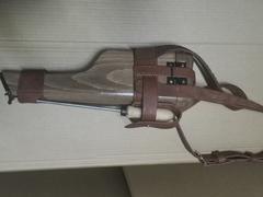 Wood holster for Mauser C96
