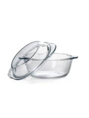 Кастрюля жаропрочная стеклянная 0,84 литра круглая с крышкой Borcam 59033 круглая форма с крышкой 19х16х10 см
