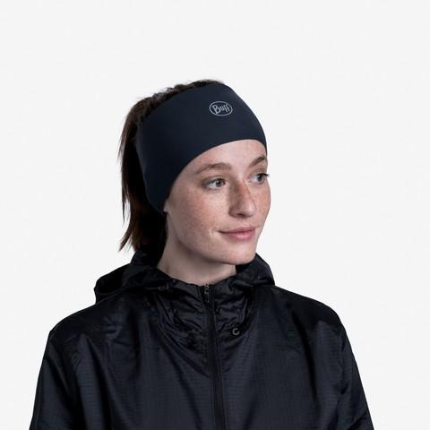 Теплая спортивная повязка на голову Buff Headband Tech Fleece Solid Grey фото 2