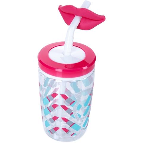 Стакан детский с трубочкой Contigo Funny Straw (0,47 литра), розовый