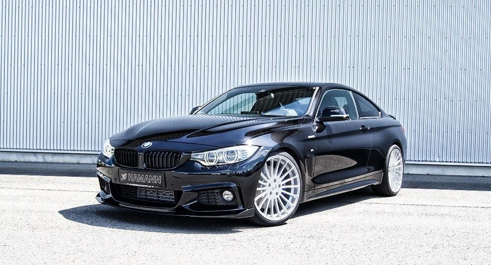 Карбоновые реснички на передние фары Hamman Style для BMW 4er