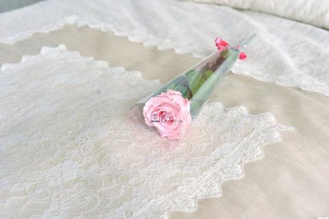 Роза на стебле King Оптом Высота*Бутон (50см*7-8см) Цвет нежно розовая