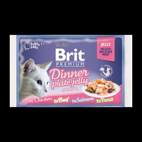 Brit Premium Cat Набор паучей для кошек кусочки в желе