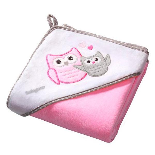 BabyOno - Полотенце велюровое 76*76 см, розовое